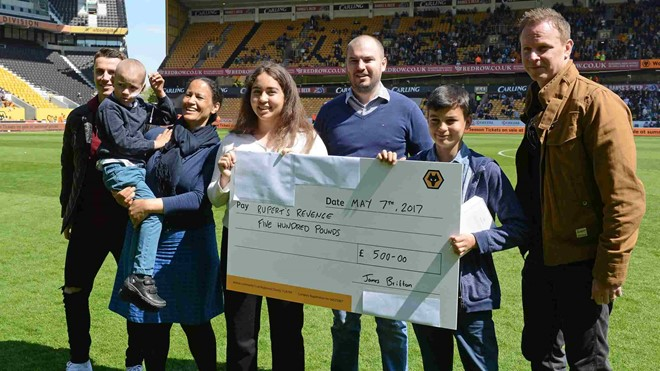 Wolves Wish presentation with Jody Craddock